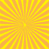 Sunburst with ray of light. Yellow and orange background. Stock Images