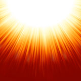 Sunburst Rays Of Sunlight Tenplate. EPS 8 Stock Images