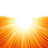 Sunburst Rays Of Sunlight Tenplate. EPS 8 Royalty Free Stock Images