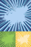 Sunburst Rays with Splatter Texture Vector Royalty Free Stock Photos