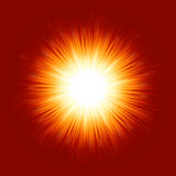 Sunburst rays of sunlight. EPS 8 Royalty Free Stock Photos