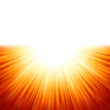 Sunburst rays of sunlight tenplate. Stock Photography
