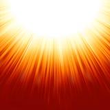 Sunburst rays of sunlight tenplate. EPS 8 Stock Images