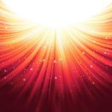 Sunburst rays of sunlight tenplate. EPS 10 Royalty Free Stock Photography