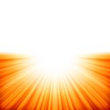 Sunburst rays of sunlight tenplate. EPS 10 Stock Photos