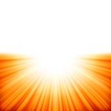 Sunburst rays of sunlight tenplate. EPS 10 Stock Photos