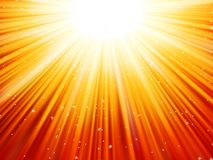 Sunburst rays of sunlight tenplate. EPS 10 Royalty Free Stock Photography