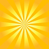 Sunburst retro do vetor Foto de Stock Royalty Free
