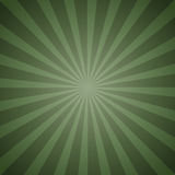 Sunburst Retro green in vintage style. Vector illustration Stock Photography