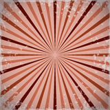 Sunburst retro rays background in red. Vector illustration Royalty Free Stock Photos