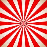 Sunburst Retro Red Pattern. Vector illustration Royalty Free Stock Image