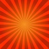 Sunburst Retro red in vintage style. Vector illustration Royalty Free Stock Images