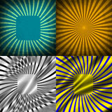 Sunburst Retro Textured Grunge Background Set. Royalty Free Stock Photography
