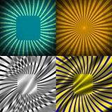 Sunburst Retro Textured Grunge Background Set. Royalty Free Stock Photography