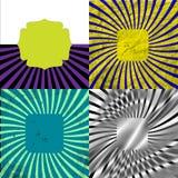 Sunburst Retro Textured Grunge Background Set. Royalty Free Stock Images