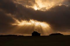 Sunburst at Rhossili Royalty Free Stock Image