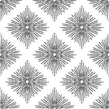 Sunburst seamless pattern. Bursting rays. Hand Drawn vector vintage background. Perfect for wrapping paper, fabric, textile etc royalty free illustration