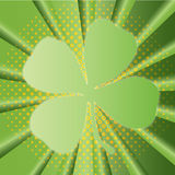 Sunburst Shamrock Royalty Free Stock Photography