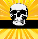 Sunburst Skull Stock Images