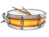Sunburst snare drum with drumsticks Royalty Free Stock Photography