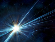 Sunburst in space Stock Photos