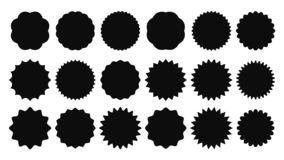 Free Sunburst Sticker. Vintage Sale Stickers, Burst Rays Promo Button And Sun Bursts Price Isolated Vector Shapes Icons Royalty Free Stock Photography - 135899307