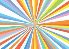 Sunburst Stripe Ray Colorful Rainbow Background Pattern. Sunburst Stripe Rays Bright Colorful Rainbow Background Pattern stock illustration