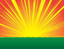Sunburst Sunset Stock Image