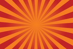 Sunburst vector. Sunburst yellow-orange vector background Stock Photography