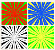 Sunburst vector. Set of colorful sunburst vector Royalty Free Stock Photos