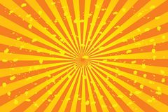 Sunburst vector. Illustration with ink-vector Royalty Free Stock Images
