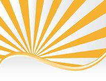 Sunburst vector. A background illustration of glowing rays Royalty Free Stock Photography