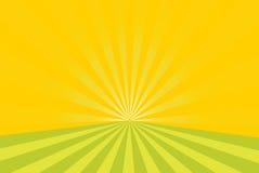 Sunburst vector background. Sunburst green yellow vector background Royalty Free Stock Photography