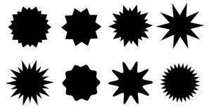 Sunburst vector badges set. Isolated on white background Royalty Free Stock Photography