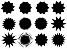 Sunburst vector badges set. Isolated on white background Vector Illustration