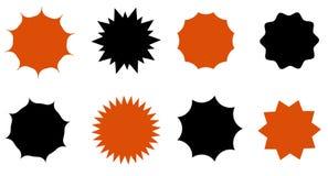Sunburst vector badges set. Isolated on white background Stock Illustration
