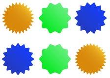 Sunburst vector badges set. Isolated on white background Royalty Free Illustration