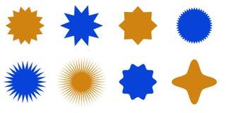 Sunburst vector badges set, stars. Sunburst vector badges set. Isolated on white background stock illustration