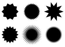 Sunburst vector badges set, stars. Sunburst vector badges set. Isolated on white background vector illustration