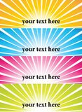 Sunburst vector banners. Abstract banners with a sunburst effect Stock Images