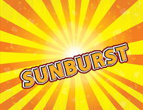 Sunburst vector illustration. Vector drawing showing sunburst with text Royalty Free Stock Photos