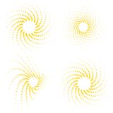 Sunburst vector-set Royalty Free Stock Photography