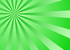 Sunburst verde do inclinação Foto de Stock Royalty Free
