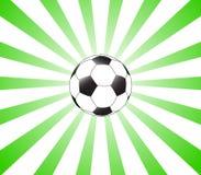 Sunburst verde e futebol Ilustração do Vetor