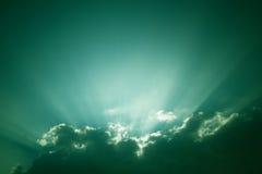 Sunburst - vintage sky background Stock Photo