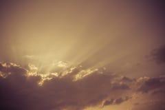 Sunburst - vintage sky background Royalty Free Stock Photos