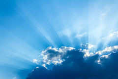 Sunburst - vintage sky background Stock Image