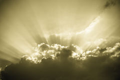 Sunburst - vintage sky background Stock Image