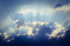 Sunburst - vintage sky background Royalty Free Stock Images