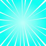 Sunburst with White Beams of Different Size for Depth and Perspective. Blue Explosion with Light Lines for Dimension. Sunburst Explosion Different Size White stock illustration